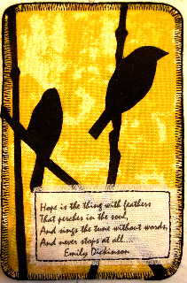 Sara Kelly, Hope is a Thing with Feathers