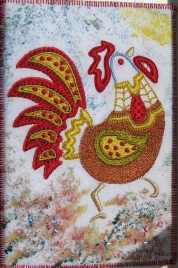 Marianne Bishop, red rooster