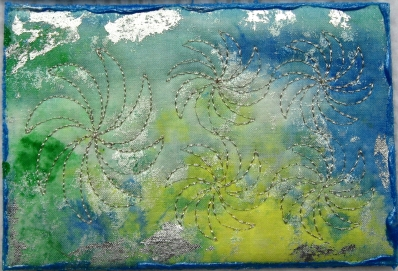 Marianne Bishop, Sashicoon/Sea Salt painted fabric