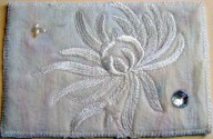Maureen Curlewis, Silk needle felted back ground