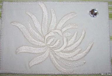 Maureen Curlewis, Chrysanthemum on cotton twill