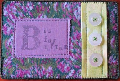 Sarah Ann Smith, B is for Button