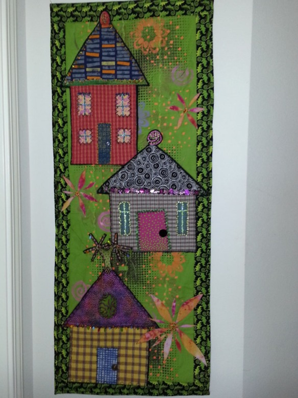 Quilt on wall