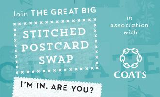 Stitched Postcard Swap